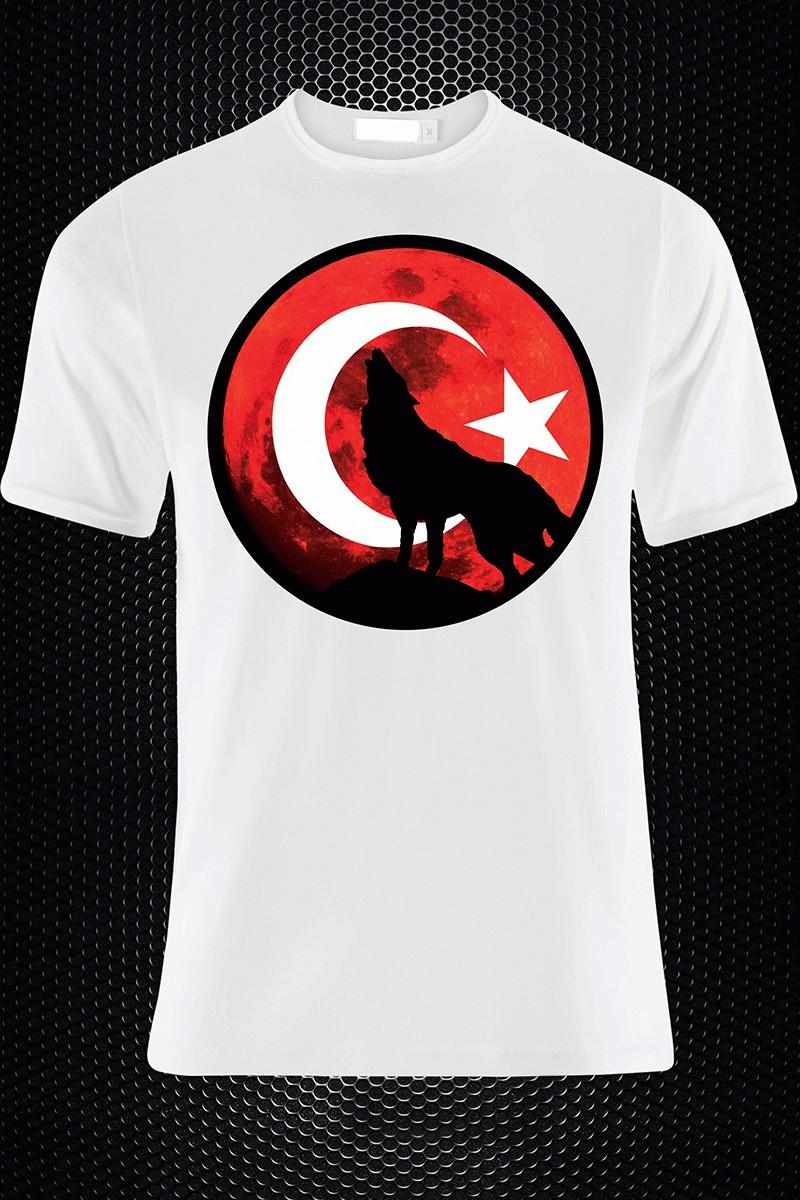 By Tugi Beyaz HLG-009 Erkek Tişört