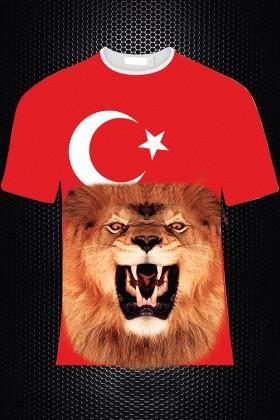 By Tugi Kırmızı HLG-011 Erkek Tişört