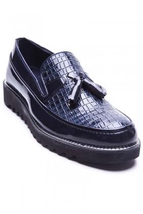 BLUESOIL Lacivert BS-20-058-DESENLI Erkek Ayakkabı
