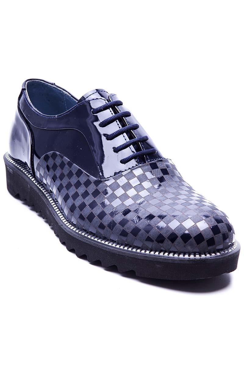 BLUESOIL Lacivert BS-20-69 Hakiki Deri Erkek Ayakkabı