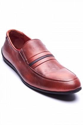 BLUESOIL Kiremit BS-20-70 Hakiki Deri Erkek Ayakkabı