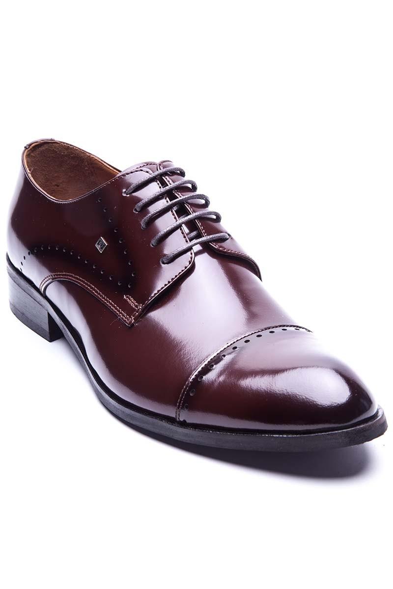 Klasik Kahverengi Hakiki Deri Erkek Ayakkabısı