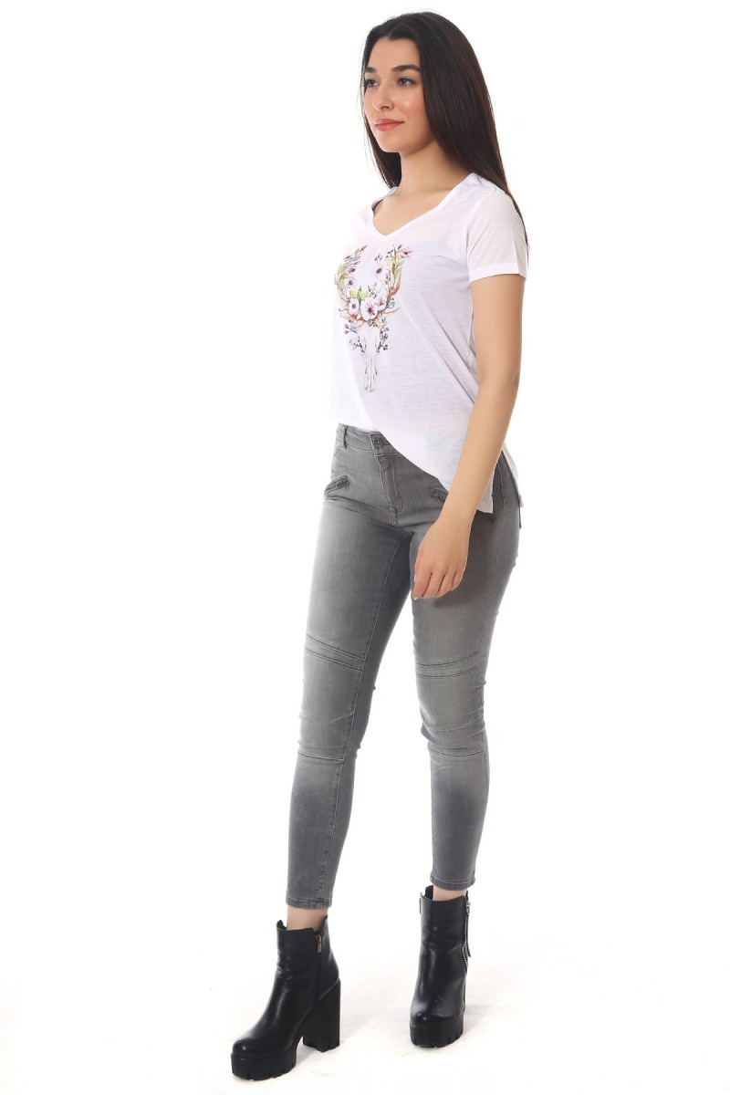BLUESOIL Gri BS-296-P8945 Bayan Kot Pantolon