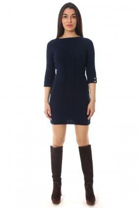 BLUESOIL Lacivert BS-296-EL3333 Triko Elbise