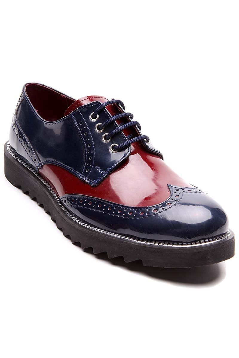 BLUESOIL Lacivert-Bordo BS-20-065-1 Erkek Ayakkabı