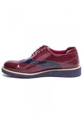 BLUESOIL Bordo-Lacivert BS-20-075 Erkek Ayakkabı
