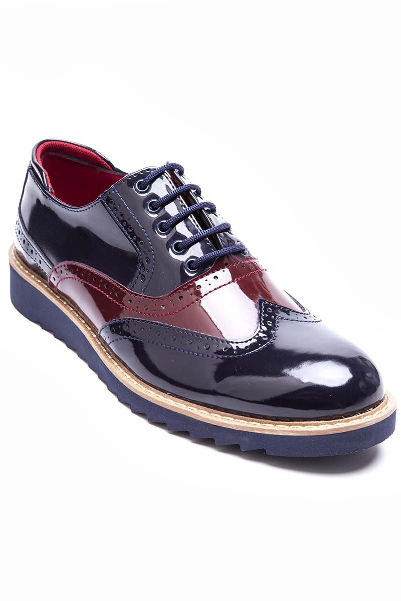BLUESOIL Lacivert-Bordo BS-20-075 Erkek Ayakkabı