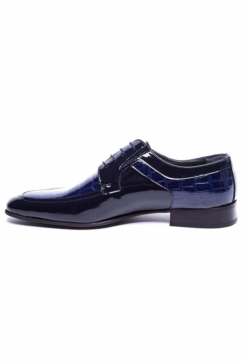Wenetti Lacivert WNT-501-LACI Hakiki Deri Klasik Erkek Ayakkabı