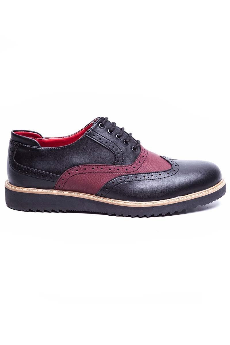 BLUESOIL Siyah-Bordo BS-20-075-MAT Erkek Ayakkabı