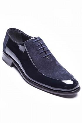 Wenetti Lacivert WNT-262-SUET Hakiki Deri Klasik Erkek Ayakkabı