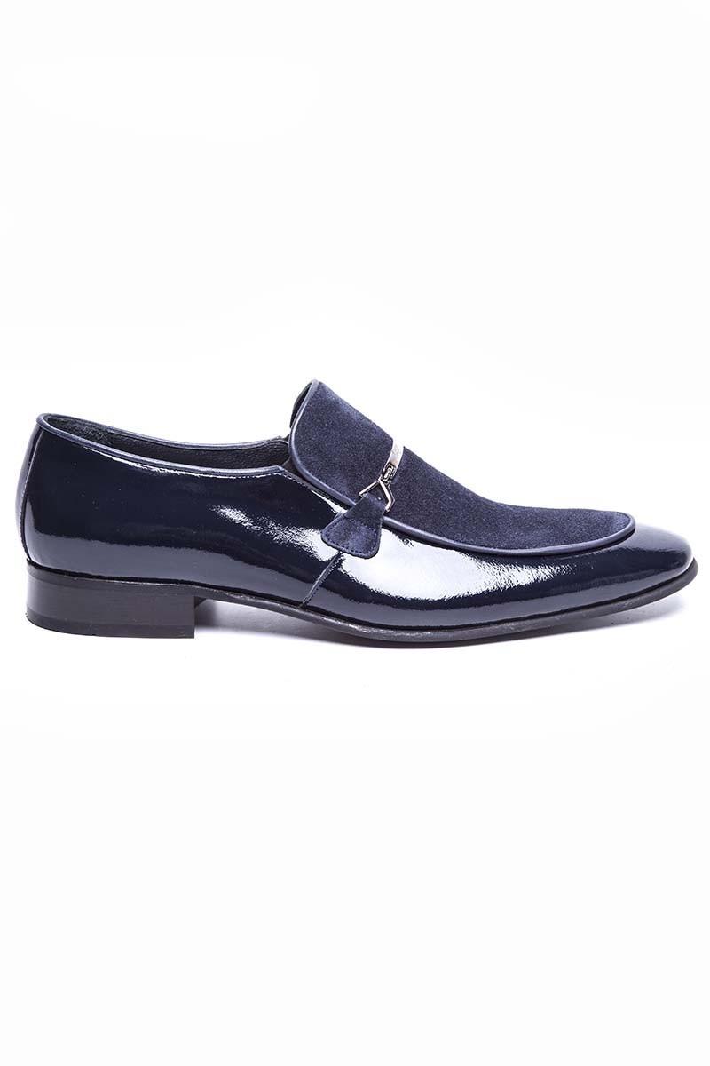 Wenetti Lacivert WNT-024 Hakiki Deri Klasik Erkek Ayakkabı