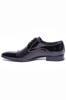 Wenetti Siyah WNT-777 Hakiki Deri Klasik Erkek Ayakkabı