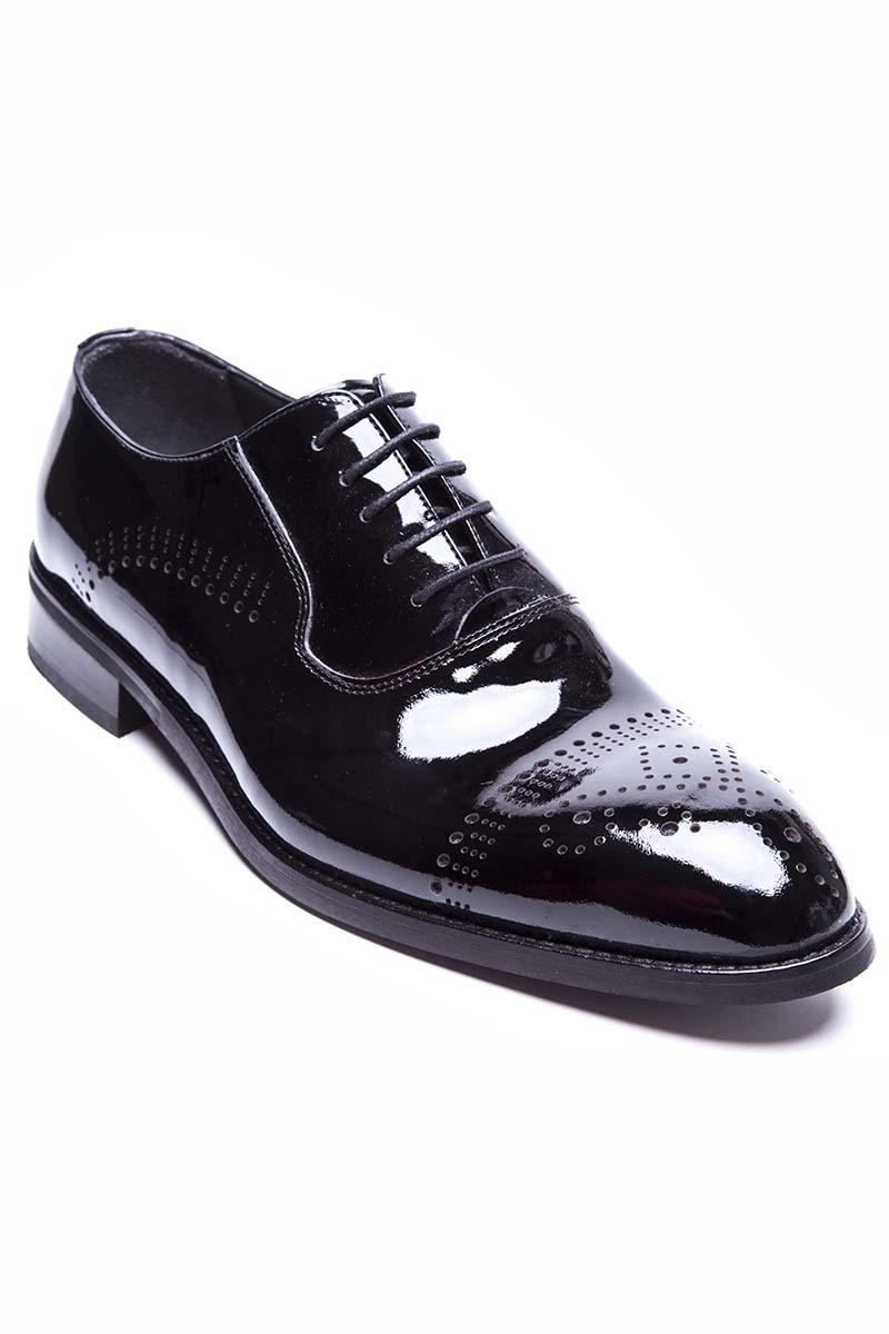 12332c0dde995 Wenetti Siyah WNT-978-RUGAN Hakiki Deri Klasik Erkek Ayakkabı ...