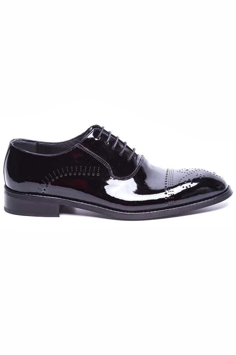 Wenetti Siyah WNT-978-RUGAN Hakiki Deri Klasik Erkek Ayakkabı