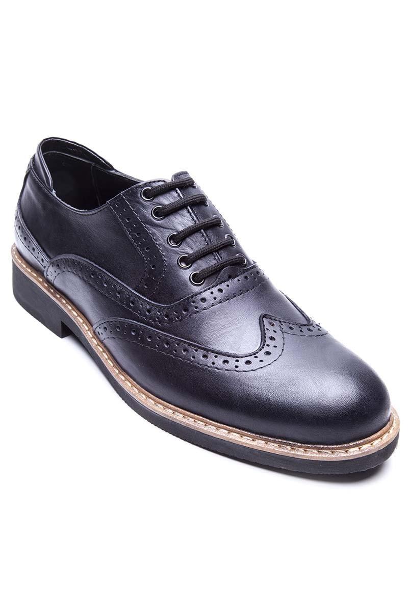 BLUESOIL Siyah BS-20-72 Hakiki Deri Erkek Ayakkabı