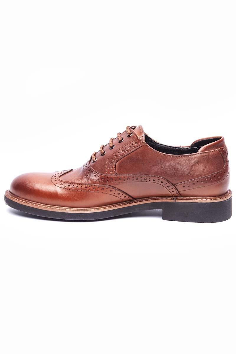 BLUESOIL Taba BS-20-72-DUZ Hakiki Deri Erkek Ayakkabı