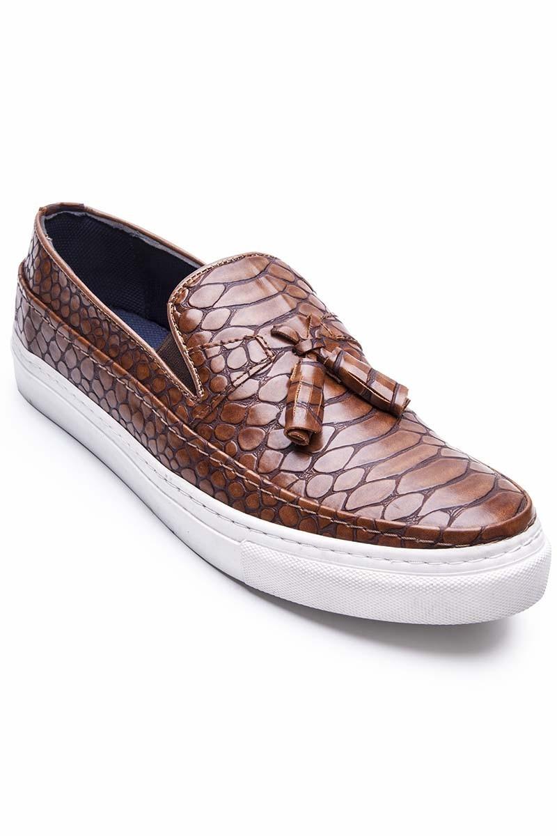 BLUESOIL Taba BS-20-078-DESENLI-T Erkek Ayakkabı