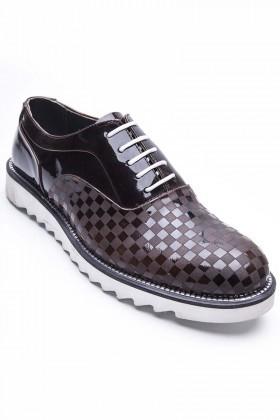 BLUESOIL Kahverengi BS-20-73-KAHVE Hakiki Deri Erkek Ayakkabı