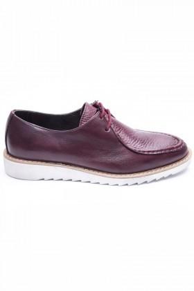 BLUESOIL Bordo BS-20-82 Hakiki Deri Erkek Ayakkabı