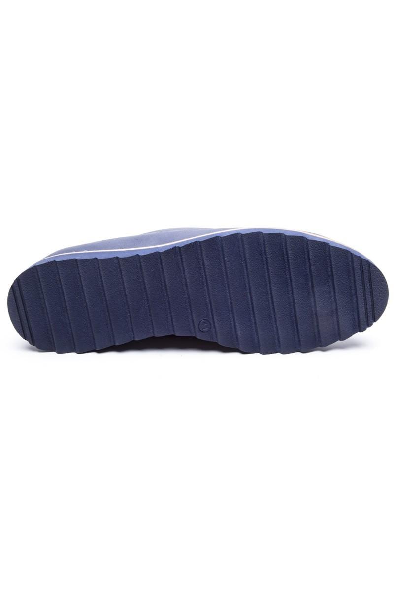 BLUESOIL Lacivert-Taba BS-20-82-LT Hakiki Deri Erkek Ayakkabı