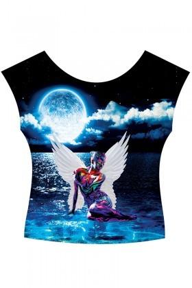 BLUESOIL Karışık Renkli TG-s689 Bayan 3D Baskılı Tişört