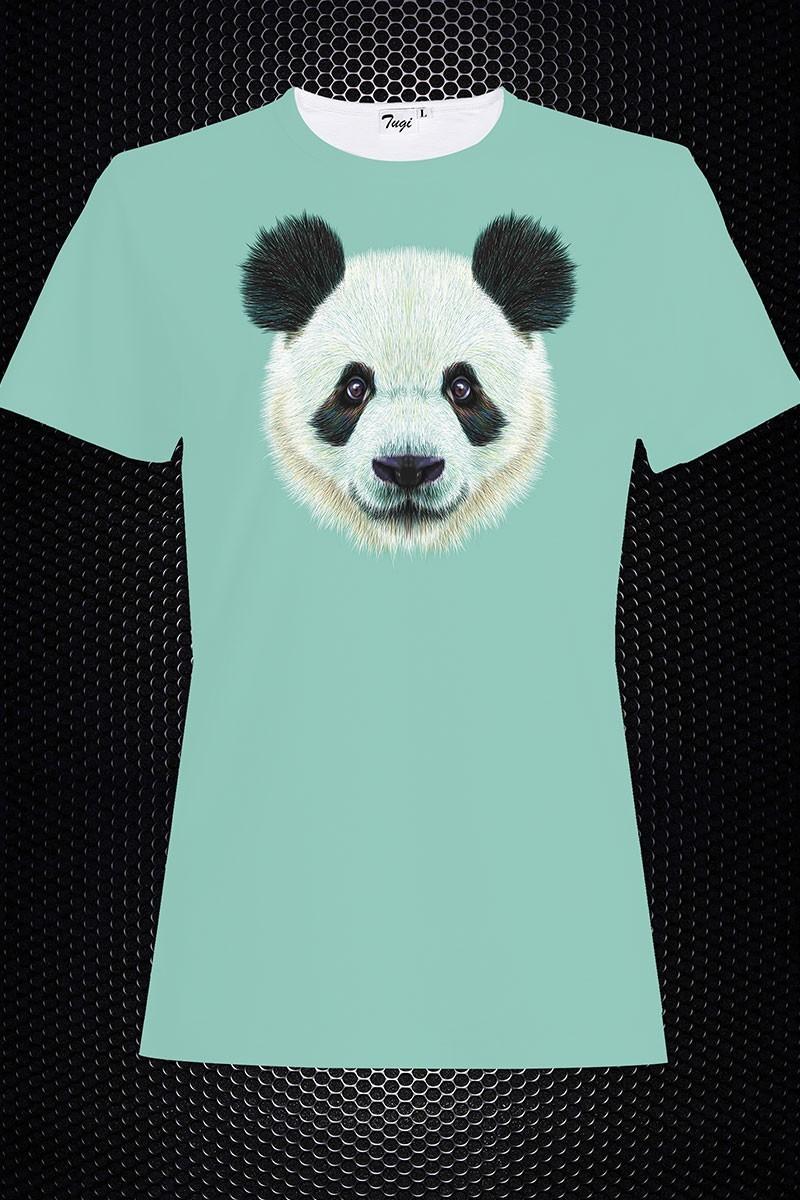 By Tugi Yeşil TG-B TH 9 Bayan 3D Baskılı Tişört