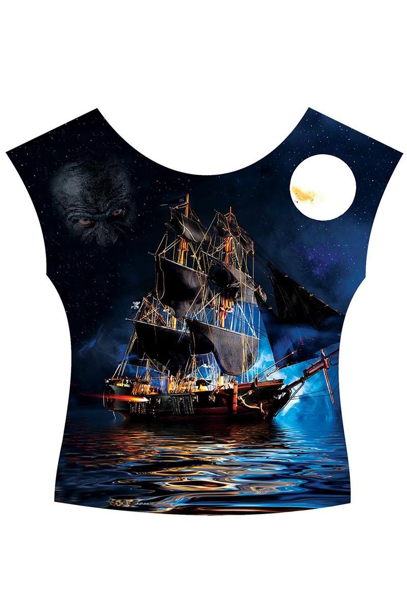 BLUESOIL Karışık Renkli TG-s746 Bayan 3D Baskılı Tişört