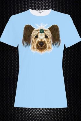 By Tugi Mavi TG-B TH 8 Bayan 3D Baskılı Tişört