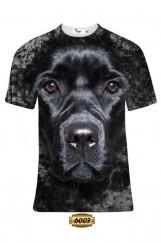 Erkek 3D Köpek Baskılı Tişört