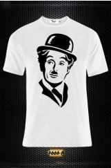 Charlie Chaplin Baskılı Erkek Tişört