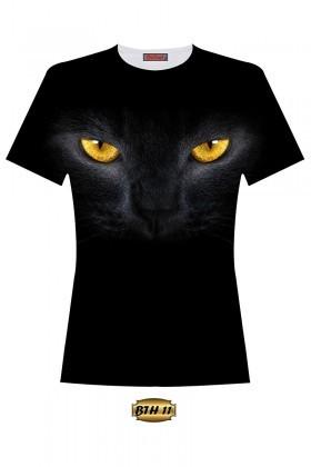 By Tugi Siyah TG-B TH-11 Bayan 3D Baskılı Tişört