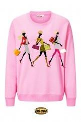 3D Baskılı Kadın Sweatshirt