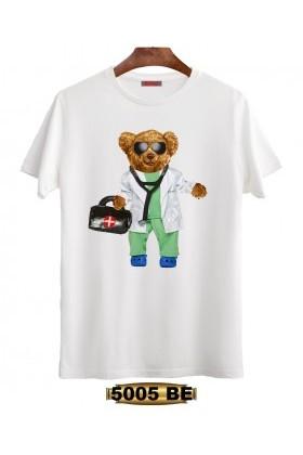 By Tugi Beyaz 5005 BE Dijital 3d Baskı Erkek Tişört